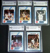 Lot of 5 1989 1990 Michael Jordan North Carolina Collegiate KEY SERIAL # BCCG 10