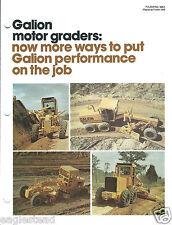 Equipment Brochure - Galion - Motor Grader Snow Plow Ripper - 4 items (E3211)