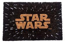 Star Wars Logo Felpudo Bienvenida Oficial 60 X 40CM Fibra de Coco PVC Espalda