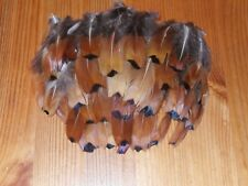 100 COCK PHEASANT FLANK FEATHERS-FLY TYING MILLINERY,HAIR,JEWELLERY,CRAFT.