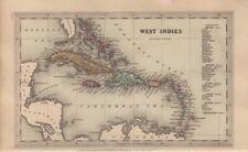 1834 Nice Early Starling Map of the West Indies