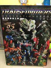 TRANSFORMERS GENERATION 2009 VOL 3 CATALOGO CATALOGUE BANDAI TAKARA POPY HASBRO