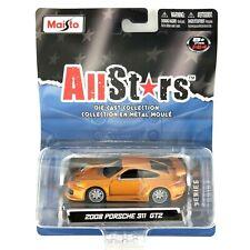 Maisto All Stars 2008 '08 Porsche 911 GT2 Car Orange/Copper Die Cast 1/64 Scale