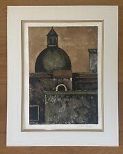 HERBERT BREITER Lithograph Print SIGNED Salzburger Dome Landscape Art VINTAGE