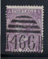 Großbritannien 1867 Mi. 30 Gestempelt 80% 6 Pence, Sieg, S, A.