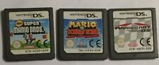 3 NINTENDO DS DSL DSi NEW SUPER MARIO BROS +MARIOKART +Vs DONKEY KONG MINI LAND