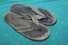 """RAINBOW Sandals Flip Flops Black Unisex AUTHENTIC Size M 10"""" Leather Womens"""