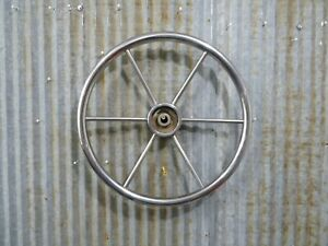 Authentic 16 inch Stainless Steel Boat Wheel -(R12-702A)