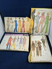 Vintage 1960s? lot of 4women's Clothing Sewing patterns Butterick, Simplicity