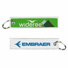 Wideroe-Embraer Embroidered Keyrings x2