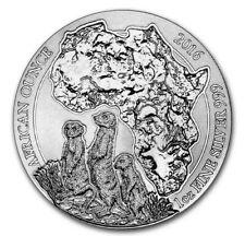 2016 Rwanda 1 Oz. Silver African Meerkat- Mint Sealed