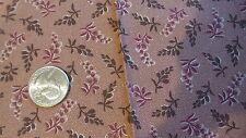 Cotton Fabric Fat Quarter HOUSE GARDEN THIMBLEBERRIES 2007 Dark Red,Brown Leaves