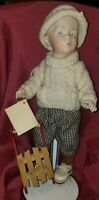 """13"""" Whistling Jim German Character Antique Doll REPRODUCTION Gebruder Heubach"""