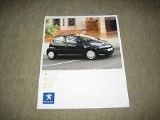 Peugeot 107 Prospekt Brochure von 6/2007, 24 Seiten