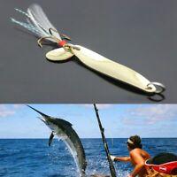 bruit cuillère spinner leurres de pêche plume à triple hameçon crank appât