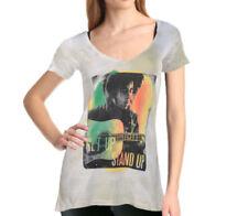 Bob Marley V Neck Regular Size T-Shirts for Women