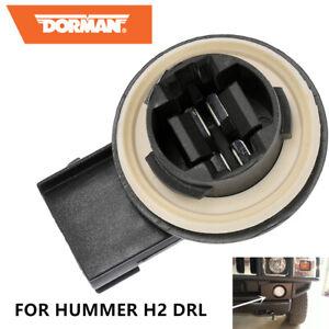 One Dorman DRL Socket for Hummer H2 Front Bumper Daytime Running Light Connector