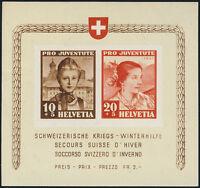 SCHWEIZ 1941, Block 6, tadellos postfrisch, Mi. 110,-