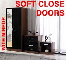 Gladini High Gloss Mirrored 3 Piece Bedroom Furniture Set - Includes Wardrobe 4