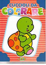 Cuccioli da colorare - Tartaruga in copertina Salvadeos Libro nuovo in offerta!
