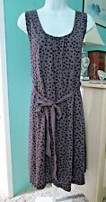 DAISY FUENTES $54 Ladies Two Tone Purple Polka Dot P/O Shift Dress size XL NEW