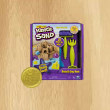 The One and Only Kinetic Sand Beach Day Fun Playset Castle Molds Tools and 12 oz
