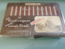 Conté à Paris Carrés Sketching box set of 12 -Sanguine XVIII 2451-NEW SEALED NOS