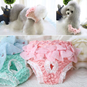 Dog Puppy's Disposable Diapers Pet Nappy Menstrual Sanitary Green Pink Underwear