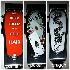 BARBER SALON DECAL STICKER TO PERSONALISE YOUR ANDIS MASTERS PHAT HAIR CLIPPERS