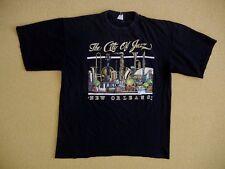 Vtg NEW ORLEANS Black Music Band THE CITY OF JAZZ T-SHIRT Size Men's XL Concert