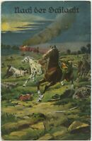 After The Battle 1915 Dragoon Cavalry Regt 15 German WW1 Feld Postcard (2103)