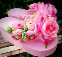 Womens Flower Sandals Rhinestone Shoes Platform Low Heel Slipper   New