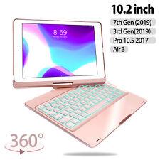 """Para iPad 8th GEN 2020 7th GEN 2019 10.2"""" 360 Funda Soporte Giratorio De Teclado Iluminado"""