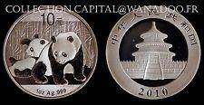 China Panda 1 OZ  2010 Argent 999°/oo avec certificat