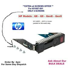 "HP 651687-001 2.5"" SAS / SATA ** SALE of  4 SCREWS !  for this Model ONLY SCREWS"