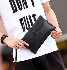 Men's Business Vintage PU Leather Envelope Bag Casual handbag Wallet clutch bag