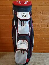 Taylormade 14-way cart golf bag - Red, white & black - Good condition
