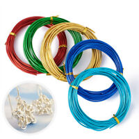 5 M 1/1.5/2.0mm Aluminum Wire Jewelry Necklace Making Cord Rope Craft Weaving AU