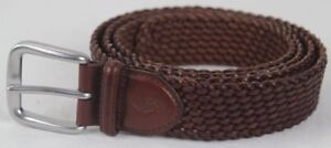 Polo Ralph Lauren Brown Braided Leather Belt Silver Buckle NWT