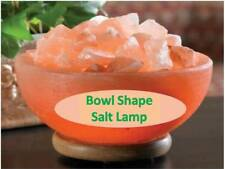 Himalayan Rock Salt Lamp Bowl shape Best Quality Crystals ,Ionizer UK fitting