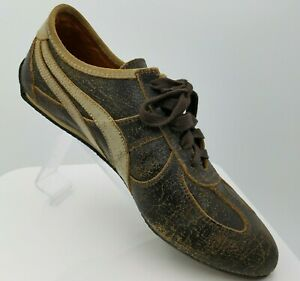 Kowalski Shoes Distressed Brown Leather Retro Bowling Sneakers US 8 Euro 41