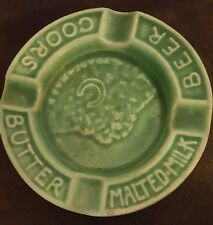 Coors Green Malted Milk Ashtray  Circa Prohibition