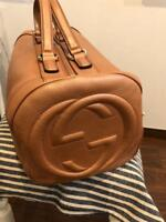 2d1f6f0225d9 GUCCI BOSTON BAG BROWN JAPAN LIMITED MODEL SUPER RARE AUTHENTIC NEW WITH  TAGS