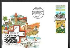 SWITZERLAND 1987 FIRST DAY COVER, TOURISM INDUSTRY BICENTENNIAL !!
