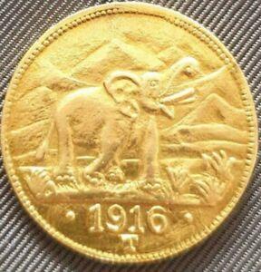 Goldmünze,Deutsches Reich,15 Rupien 1916  Deutsch Ostafrika,Medaille.