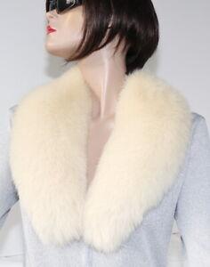 Scarf Fur Arctic Collar Shadowfuchs fur Coat Fashion Winter Vanilla Cream