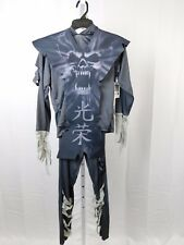 Gray Zombie Ninja Boy's Skull Print Halloween Costume Top Pants Tunic XL #R46