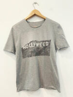 Designer BNWOT Lucien Pellat-Finet Size L Grey 'Hollyweed' Grey Women's T-Shirt