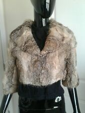 Arden B Rabbit Fur Cropped Jacket. 100% Genuine Rabbit Fur.