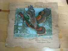 Johnson Sea-Horse Outboard Motors antique advertising Wild Turkey hunting sign